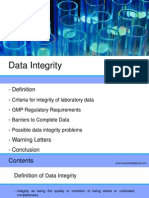 Presentation on Data Integrity