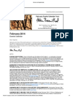Events Calendar from Council Member Helen Rosenthal, February 2014