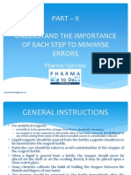 Understand the Importance of Each Step to Minimise Errors in Analytical Laboratory