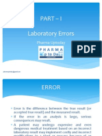 Laboratory Errors in Analytical Laboratory