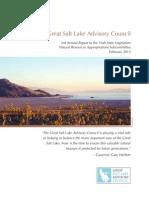Great Salt Lake Advisory Council Annual Report 2013