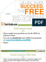 HESI A2 Entrance Exam Practice Test