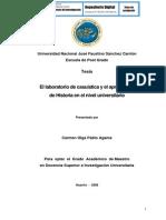 EL LABORATORIO DE CASUÍSTICA Y EL APRENDIZAJE DE HISTORIA EN EL NIVEL UNIVERSITARIO