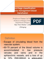 13.Haemorrhage,Classification,Diagnosis,Management,Blood Transfusion c