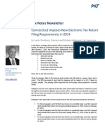 Connecticut Imposes New Electronic Tax Return Filing Requirements in 2014