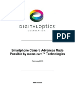 Smartphone Camera Advances Made Possible by Mems Cam Technologies February 20131
