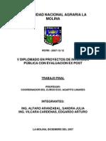 Proyecto SNIP Losas Deportivas PEPRI