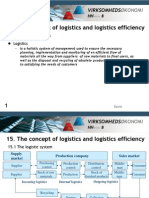 15 the Concept of Logistics and Logistics-efficiency
