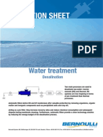 Bernoulli Filter Desalination Application Sheet