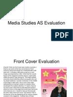 media studies as evaluation finish