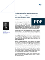 U.S Labor Department Release Advance Copies of 2013 Form 5500 Annual Report