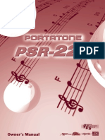 Yamaha Portatone PSR225 Owners Manual