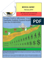 Mid-Valley Health Care Advocates newsletter -- February 2014