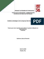 Análisis Estratégico de la Empresa Servinext SA de CV
