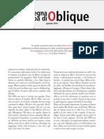 La rassegna stampa di Oblique di gennaio