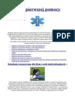 Kurs Pierwszej Pomocy - Medycynaratunkowa.com