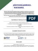 Kursy Pierwszej Pomocy Warszawa - Medycynaratunkowa.com