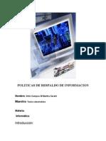politicas de respaldo de informacion ,, informatica