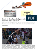 Herói do Botafogo, Wallyson mira artilharia e diz 'Vou fazer história'