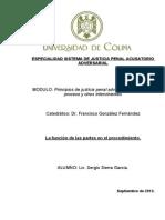 Modulo I Principios de Justicia Penal Adversarial, Sujetos Del Proceso y Otros Intervinientes