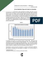 Produc d Distintos Tipo de Crudos en Colombia