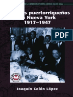 Pioneros Puertorriquenos en Nueva York, 1917-1947 by Joaquin Colon