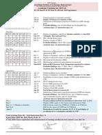 Academic Calendar for 2013 14 SemII