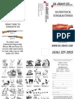 Gunstock Engraving Brochure