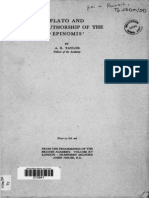 Taylor, Plato and the Authorship of the Epinomis
