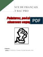 SEQ BAC PRO 3ANS - Peintures Poesies Et Chansons Engagees