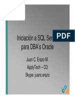 Introducción a SQL Server para Oracle DBAs