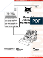 Manual Operacion Mantenimiento Minicargador 751 773th Bobcat