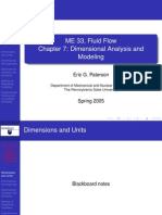 Dimensional Analysis and Modeling