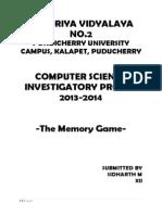 Computer Investigatory Project CBSE Class 12