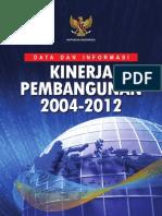 Buku Datin Kinerja Pembangunan 2004-2012