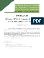 2ª Circular VII Fórum NEPEG