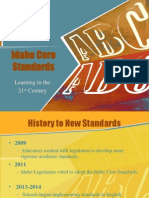 Idaho Core Standards- Informational for Parents
