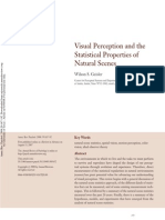 Visual Perception and the Statistics of Visual Scenes