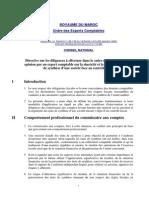 Directive sur l'opinion d'audit face au contrôle fiscal