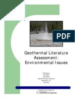Geothermal Literature