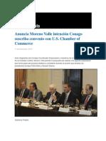 11-12-2013 Grupo Fórmula - Anuncia Moreno Valle intención Conago suscriba convenio con U.S. Chamber of Commerce