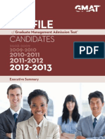 2013 GMAT Profile Exec Summary