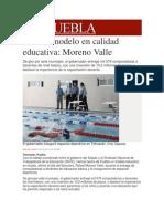 10-12-2013 Milenio.com - Puebla, Modelo en Calidad Educativa, Moreno Valle