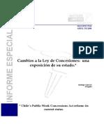 Yañez - Cambios a la Ley de concesiones