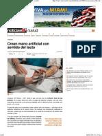 Crean mano artificial con sentido del tacto en Noticias24.pdf