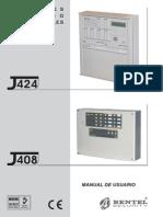 Bentel J424 Manual de Usuario