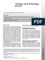 Pathophysiology and Etiology of Heart Failure