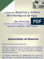 Toma de muestras y análisis microbiológicos de aguas