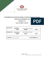 9003 PROCEDIMIENTO AUDITORÍA INTERNA V.9