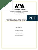 Capital Social y Violencia